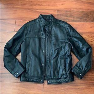 Men's Black Leather Jacket NWOT